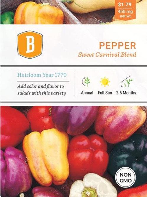 Sweet Carnival Blend Pepper Seed