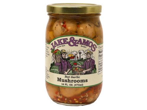 Jake & Amos Hot Garlic Mushrooms