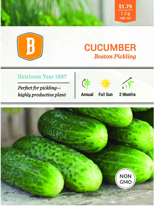 Cucumber - Boston Pickling Seed