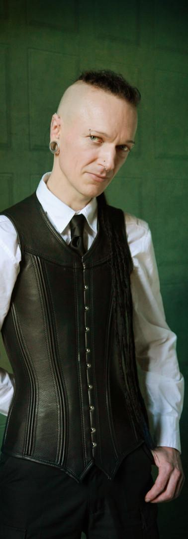 Breathcatchers. Male leather corsetvest