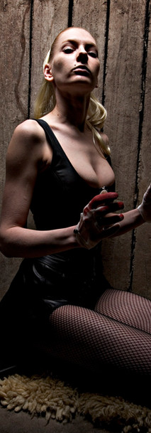 Breathcatchers, caught red haded in a leather outfit