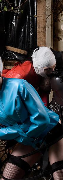 Breathcatchers. Leather straitjackets, drama dragqueen domina