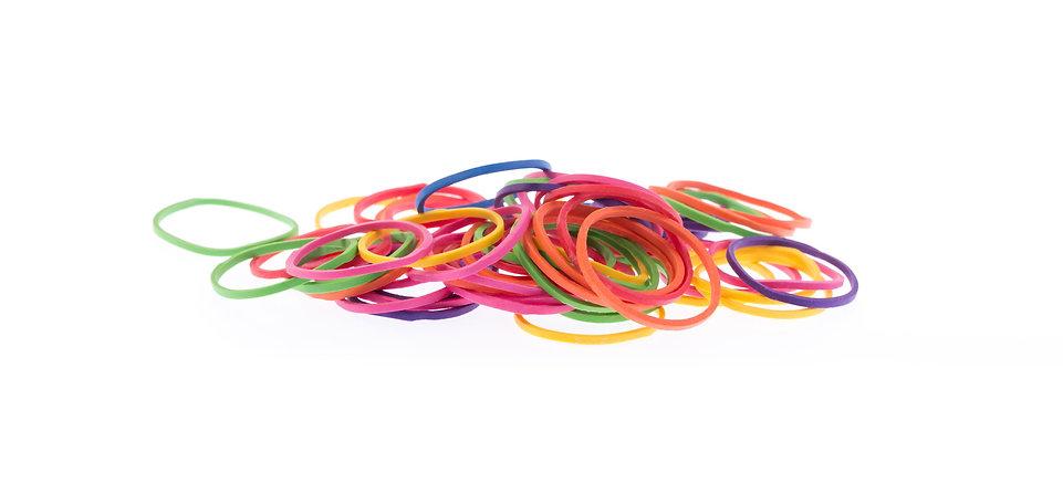 Bracelet elastique multicouleurs caoutchouc