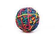 balle d'élastique - rubber band ball