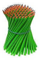 elastiques autour de crayons