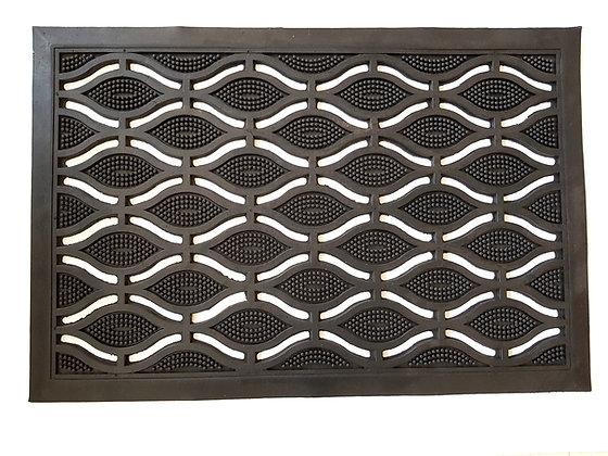 Paillasson caoutchouc noir - 60 x 40 x 1.2 cm