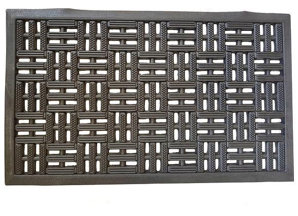 Paillasson tapis caoutchouc noir design