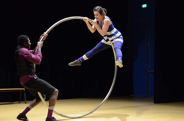 roue cyr, école de cirque angers