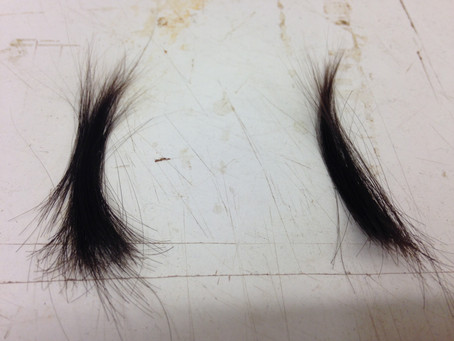 A BRUSH MADE FROM BABY'S FIRST HAIR