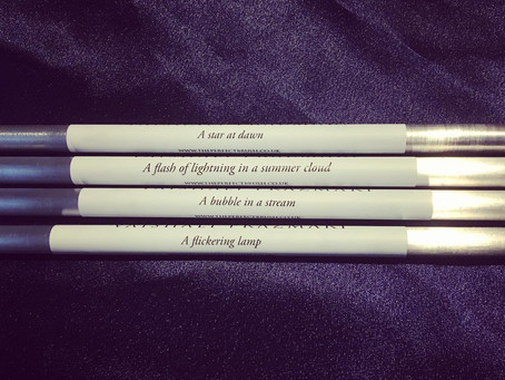 MY BRUSHES AND THE DIAMOND SUTRA