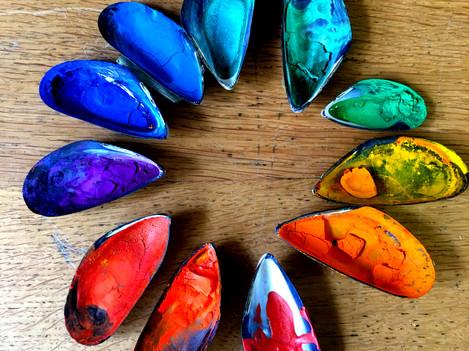 Rainbow paints