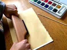Preparing the paper - burnishing