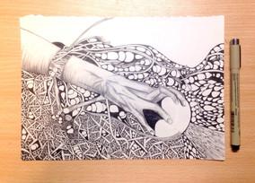 Zentangle drawing practice