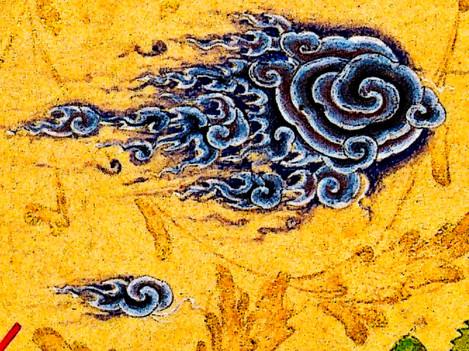 Detail of a wandering cloud