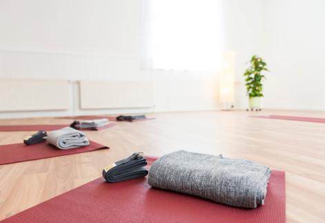 Yogamatte mit Decke