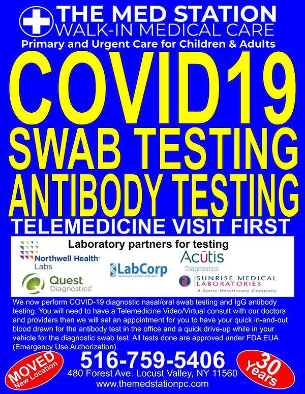 COVID ANTIBODY & DIAGNOSTIC TESTING 8.5
