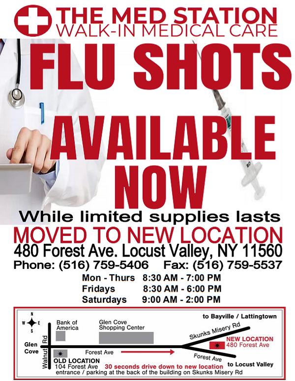 THE MED STATION FLU SHOT NOW POST ONLINE