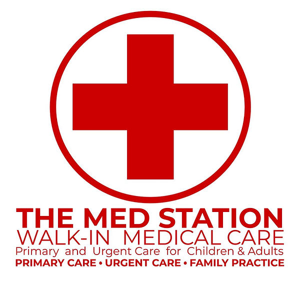 MED STATION LOGO FRONT WHITE  12 x 12 RE
