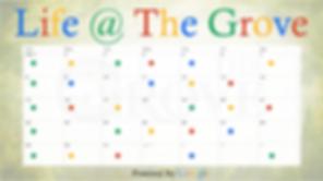 Grove, Events, Calendar