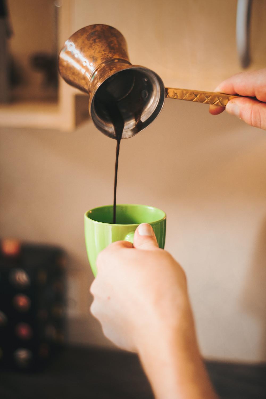 Coffee making in cezve