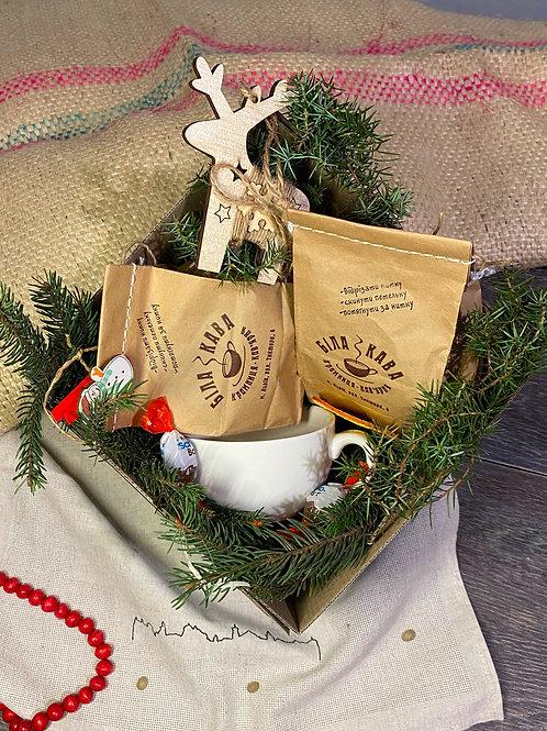 """Подарунковий набір """"Дві кави+чашка"""""""