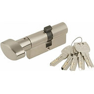 Cilindro Seguridad 30X30Mm Mas6:3030In Inox Leva Larga Con Pomo Mcm