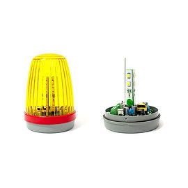 Lámpara destellante 12/24Vac/dc 125/220Vac con electrónica y antena