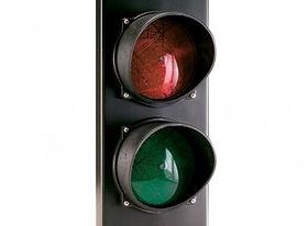 Semáforo leds grande dos colores rojo/verde