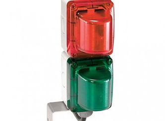 Semáforo pequeño a dos colores rojo/verde 220V