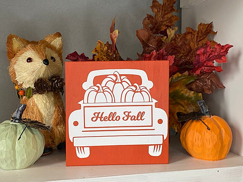 HELLO FALL TRUCK SIGN