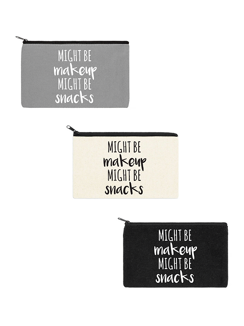 MIGHT BE SNACKS COSMETIC BAG