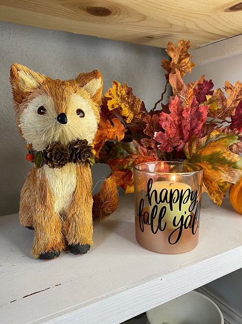 HAPPY FALL Y'ALL CANDLE HOLDER