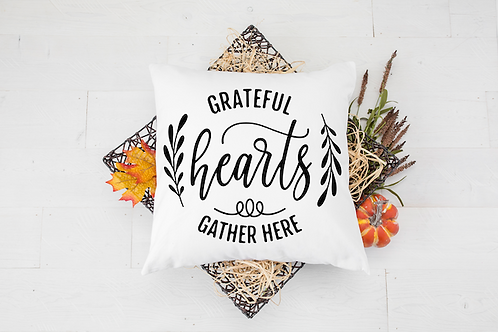 HEARTS GATHER HERE PILLOW