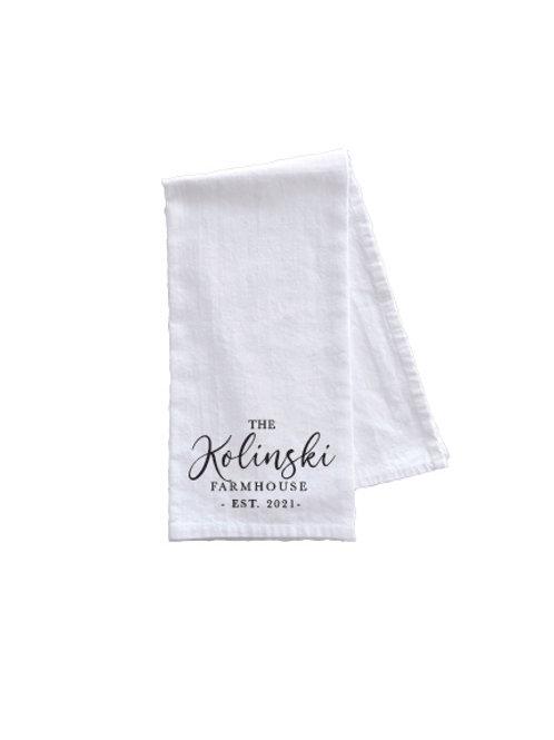 THE KOLINSKI FARMHOUSE TOWEL
