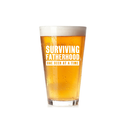 SURVIVING FATHERHOOD GLASS