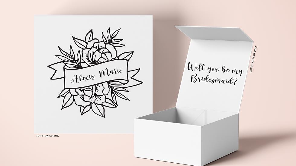 Floral Ribbon Name Proposal Box