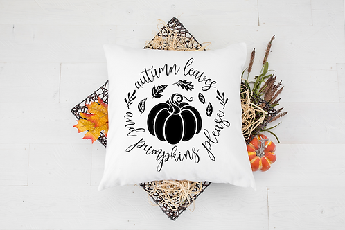 PUMPKINS PLEASE PILLOW