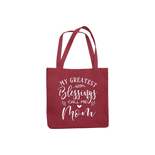 GREATEST BLESSINGS CALL ME MOM TOTE