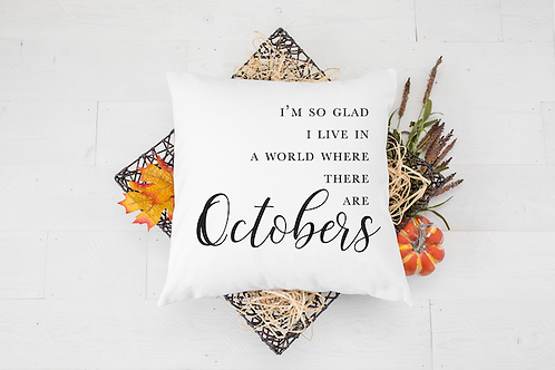 OCTOBERS PILLOW