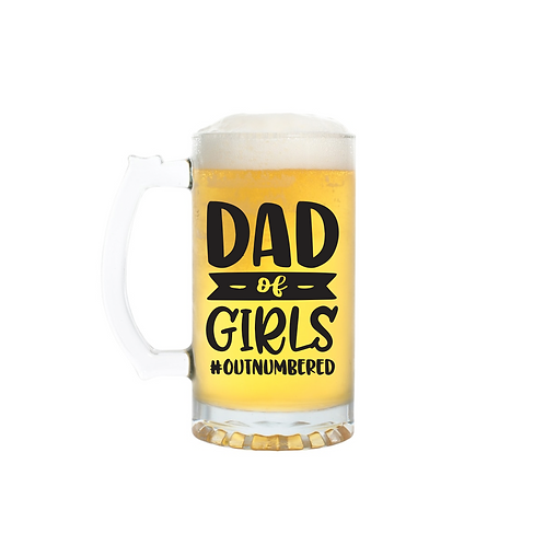DAD OF GIRLS GLASS
