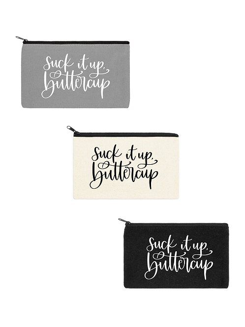 SUCK IT UP, BUTTERCUP COSMETIC BAG