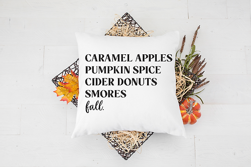 CIDER DONUTS SMORES FALL PILLOW