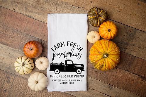 FARM FRESH PUMPKINS TRUCK TOWEL