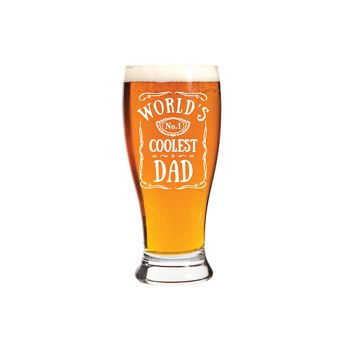 WORLD'S COOLEST DAD GLASS