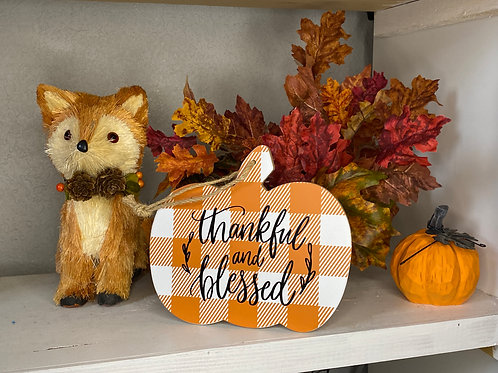 THANKFUL BLESSED PUMPKIN SIGN