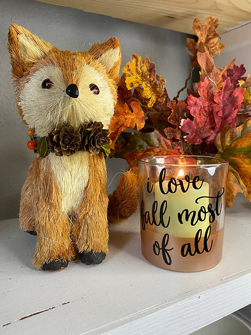 LOVE FALL MOST CANDLE HOLDER