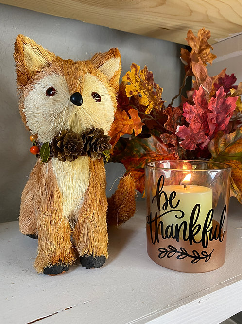 BE THANKFUL CANDLE HOLDER