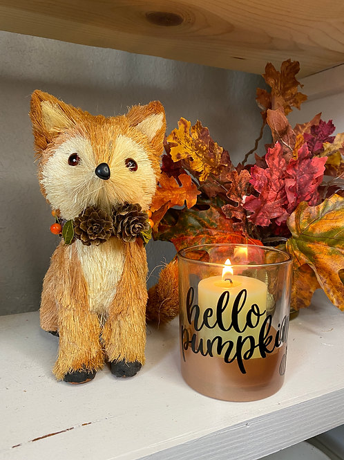 HELLO PUMPKIN CANDLE HOLDER