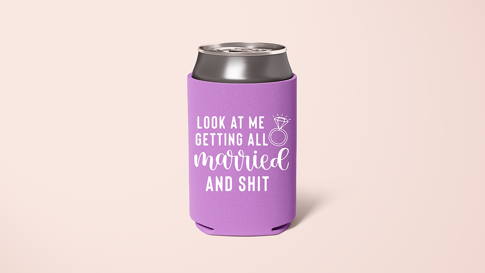 Getting Married, Getting Drunk Koozie