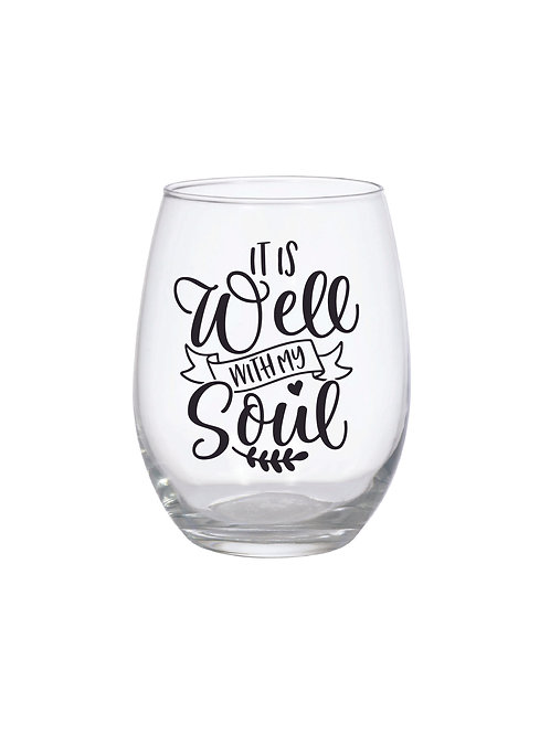 IT IS WELL WITH MY SOUL GLASS
